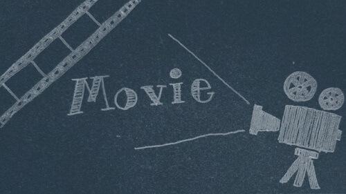 黒板と映画