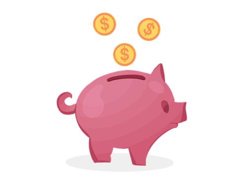 お金と貯金箱2
